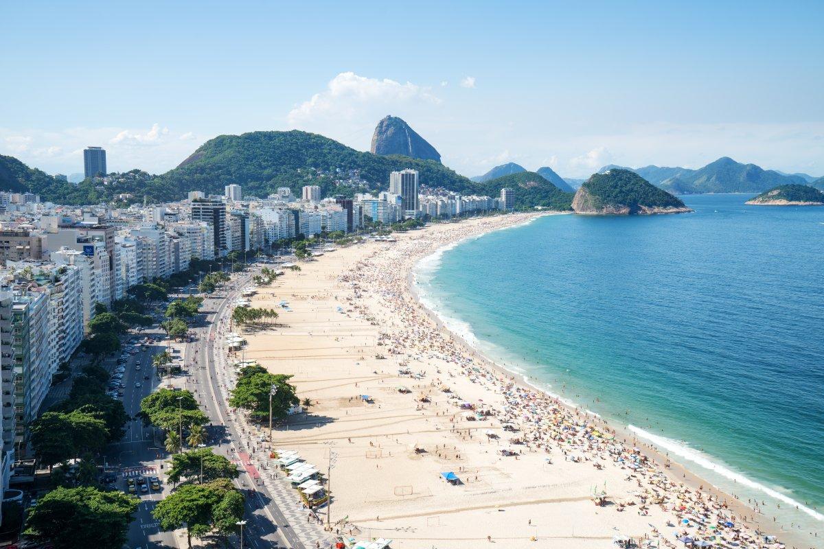 FILE -- Copacabana Beach in Rio de Janeiro.