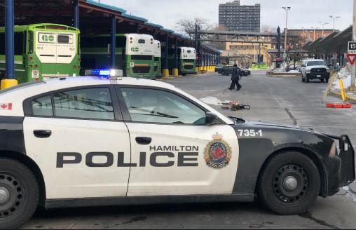 Hamilton Police investigate fatal accident involving a Go Transit bus.