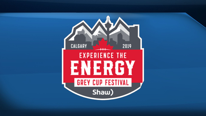 The logo for the 2019 Grey Cup Festival in Calgary.