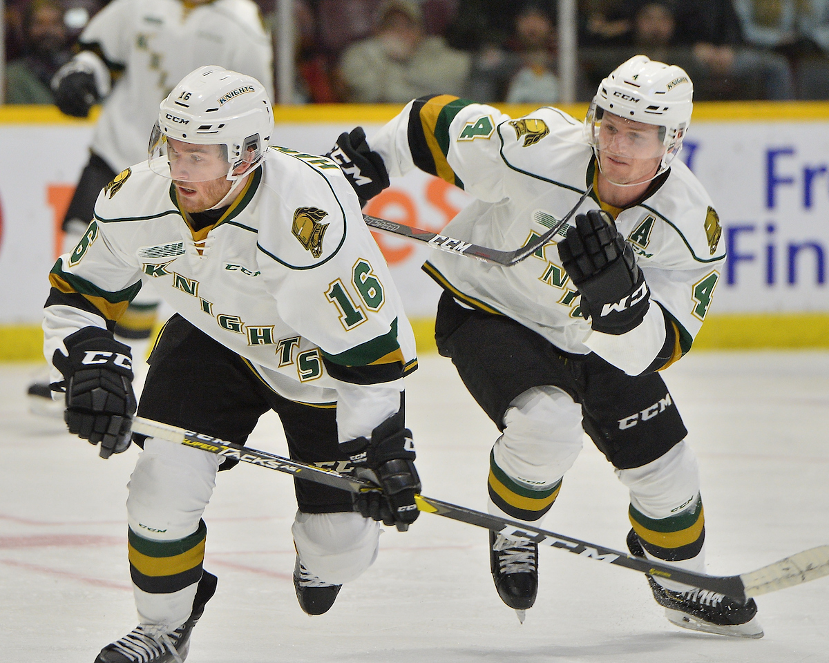 Kevin Hancock of the London Knights. Photo by Terry Wilson / OHL Images.