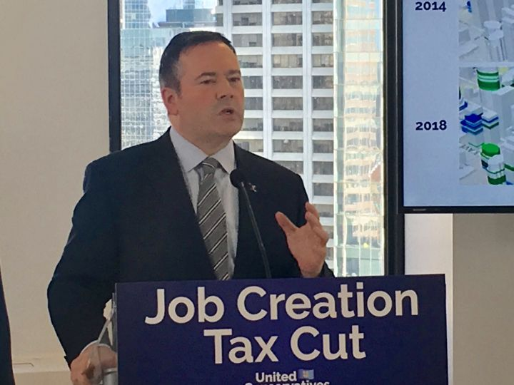 UCP leader Jason Kenney speaks at an event on March 4, 2019.
