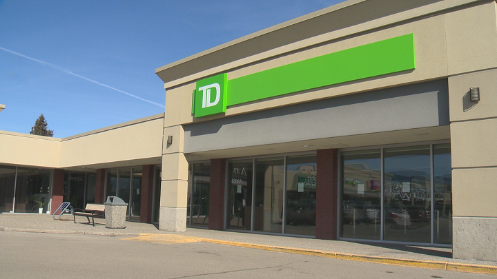 A TD Canada Trust branch along Harvey Avenue in Kelowna was robbed shortly after 8 a.m. on Saturday.