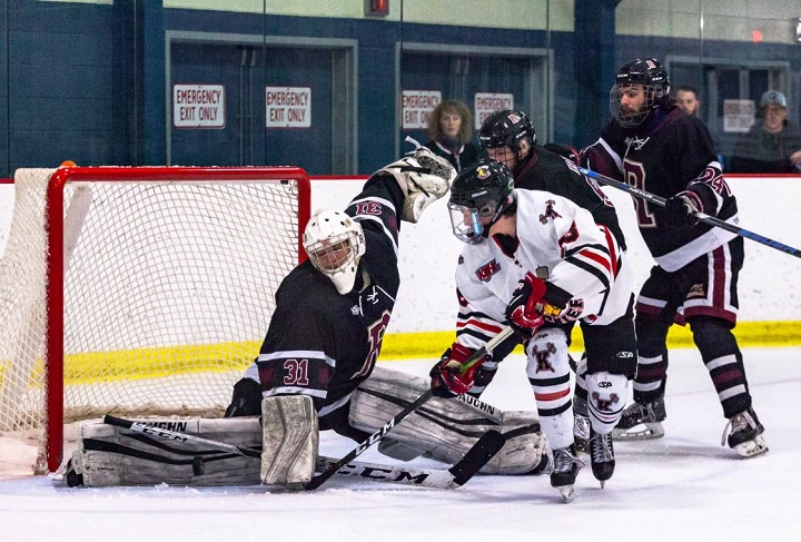 The Kelowna Chiefs and Revelstoke Grizzlies seen here during 2019 playoff action. On Saturday, the KIJHL said it was cancelling its 2020-21 season after B.C. announced it was extending its ban on social gatherings and events until further notice.
