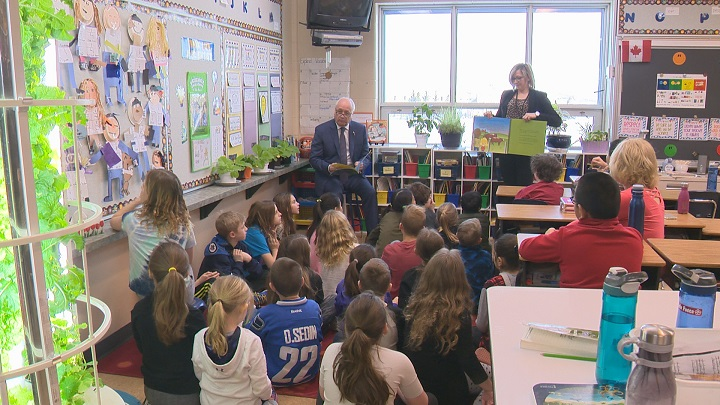 Saskatchewan Agriculture Minister David Marit kicked off Agriculture Literacy Month with a classroom visit at Jack MacKenzie School in Regina on Monday morning.