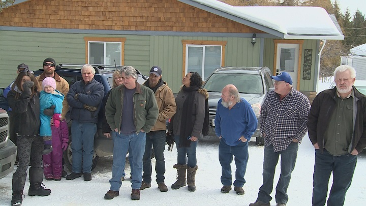 About 30 Lumby residents gathered on Saturday near the proposed medical cannabis factory off of Asher Road. They say the plant is going to ruin their livelihood.