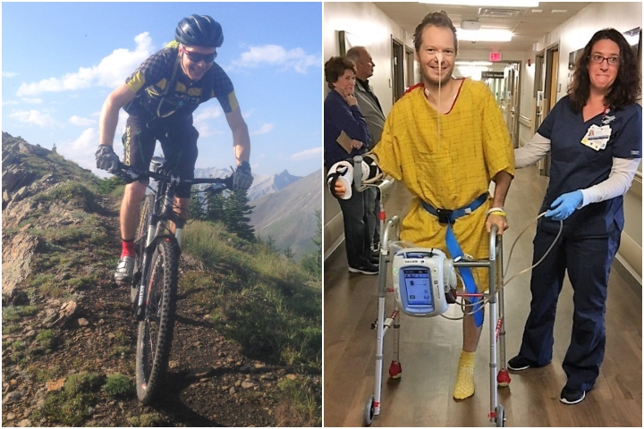 Canmore resident Matt Hadley was struck by a rock while hiking with his wife Catherine Vipond on March 13, 2019.