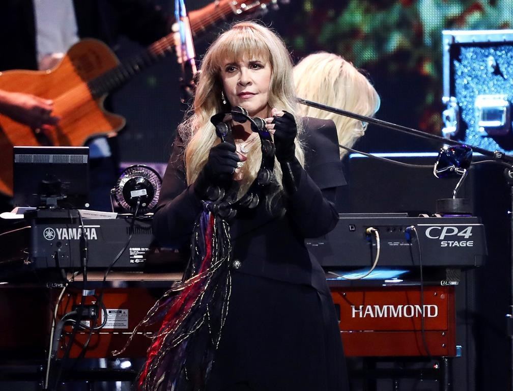 FILE - This Sept. 21, 2018 file photo shows Stevie Nicks of the band Fleetwood Mac performing at the 2018 iHeartRadio Music Festival in Las Vegas.