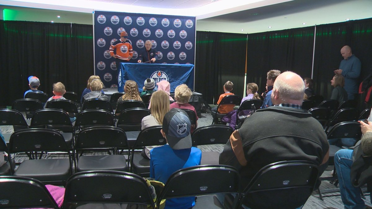64 lucky kids got to take part in Oiler for a Day Saturday at Rogers Place.