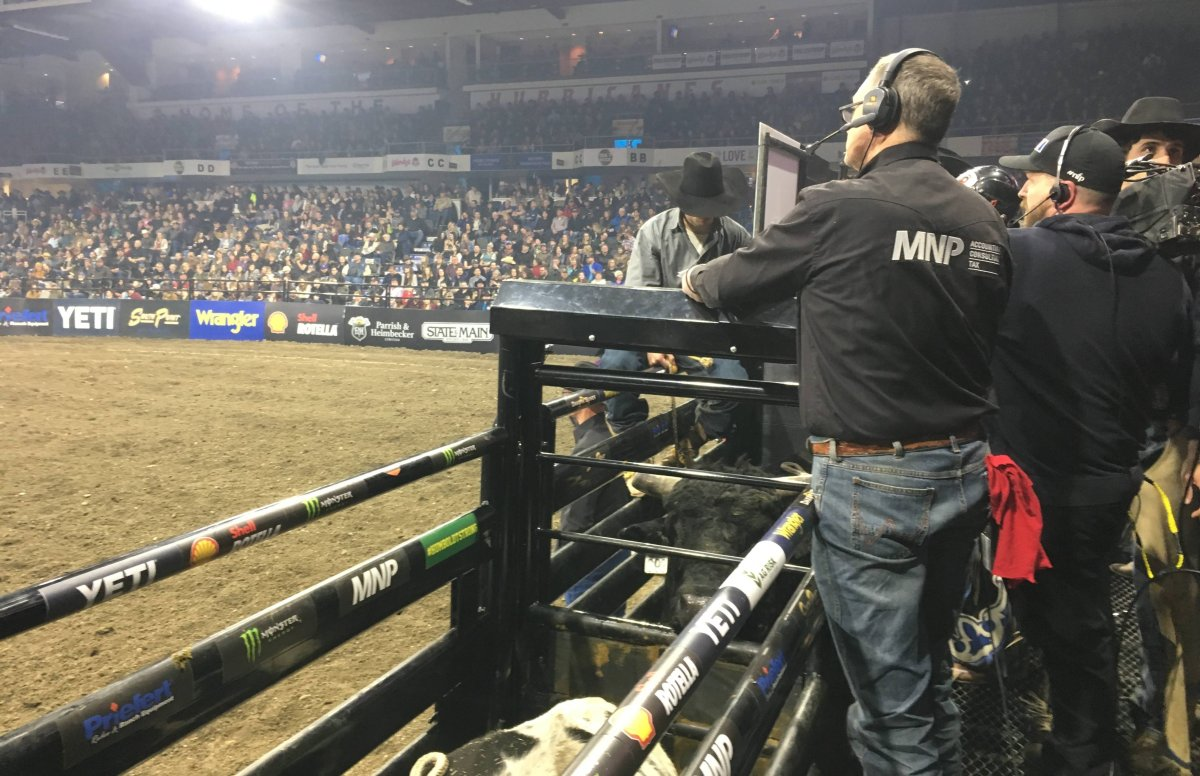 A stock image of the  Professional Bull Riders Monster Energy Tour in Lethbridge. The event is scheduled to go on in Regina Saturday amid coronavirus concerns.