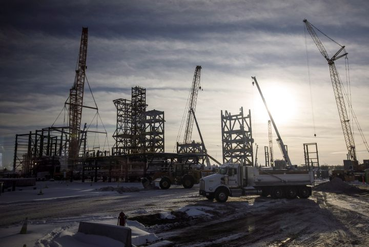 Inter Pipeline's Heartland Petrochemical Complex is shown under construction in Fort Saskatchewan, Alta., on Thursday, January 10, 2019. Canada's slow-growing petrochemical industry is headed for its biggest surge of expansion spending in five years in 2019, thanks in large part to incentive programs by federal and provincial governments.