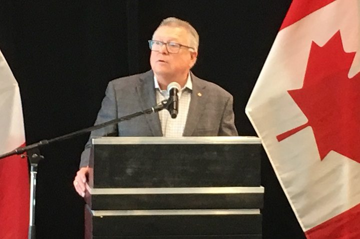 Ralph Goodale, the federal Minister of Public Safety and Emergency Preparedness, announces a two-year grant worth $595,000 was awarded to a Kelowna, B.C., company for its marine safety mobile app.