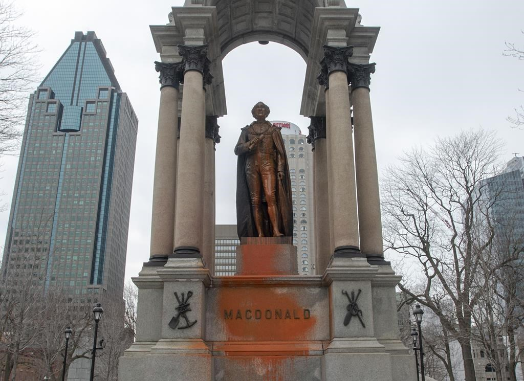 The Montreal statue of John A. Macdonald was vandalized March 21, 2019. A new review of Newfoundland and Labrador's statue shows more problematic figures are celebrated.