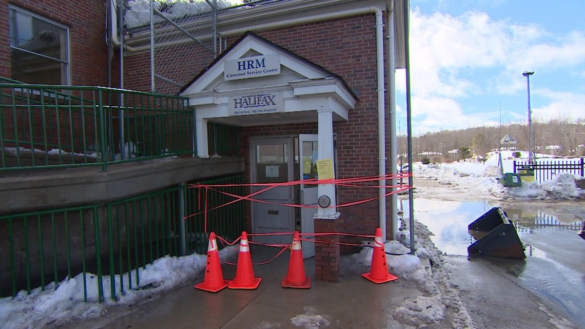 The Halifax Regional Municipality's customer service centre in Sackville, N.S., is closed for the week of March 11, 2019, due to flood damage.