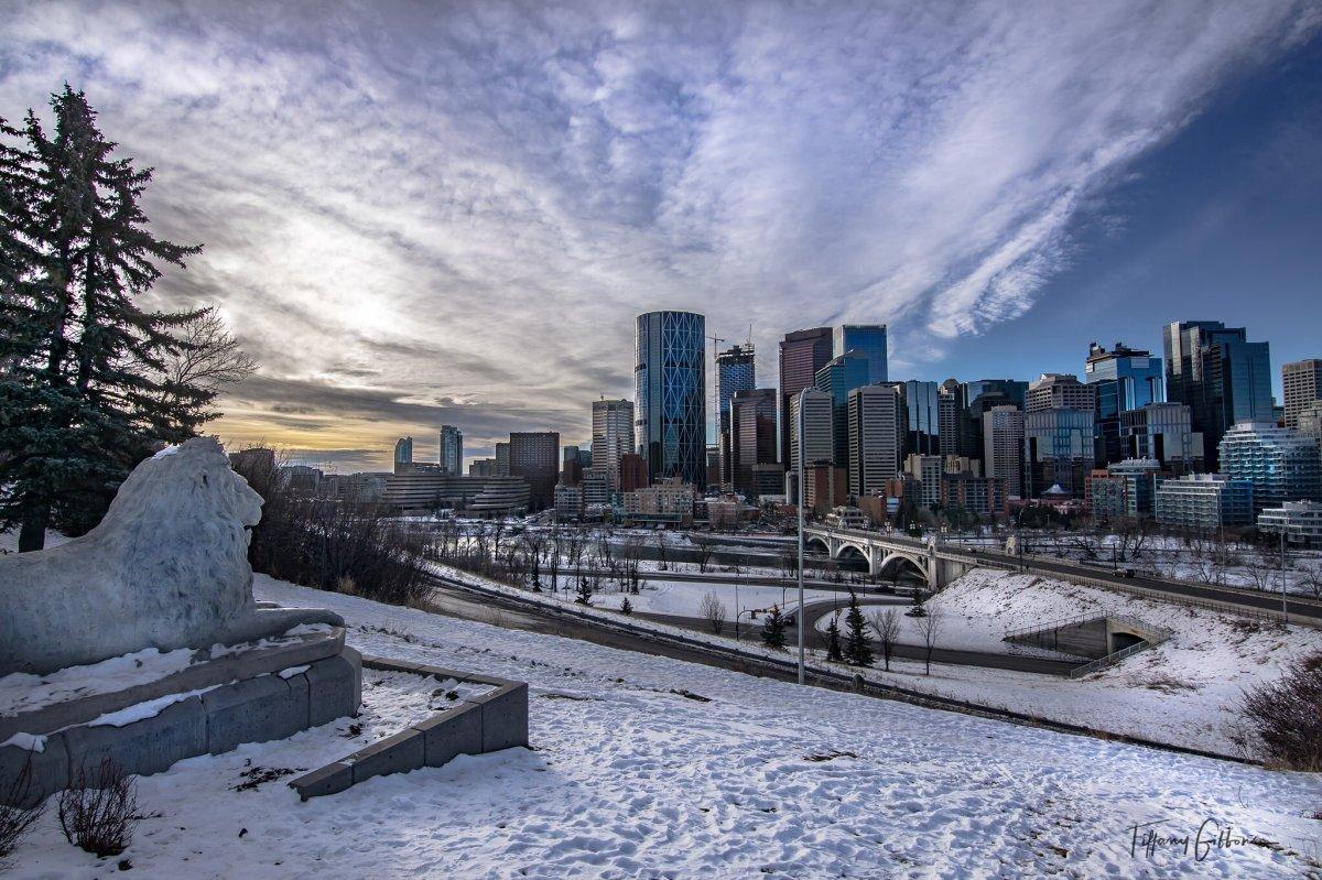 A beautiful winter day in Calgary.