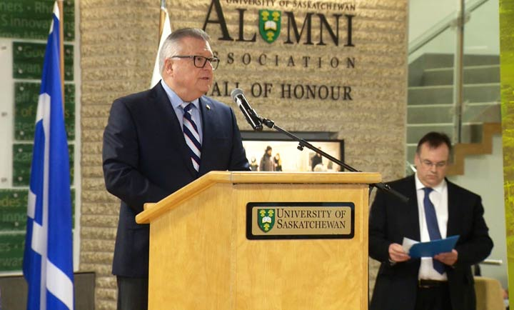 Canada's Public Safety Minister Ralph Goodale announced a federal investment to help the University of Saskatchewan reduce greenhouse gas emissions.