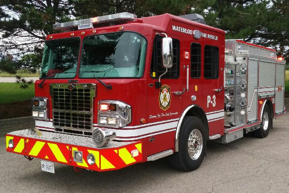 A Waterloo Fire Rescue truck.