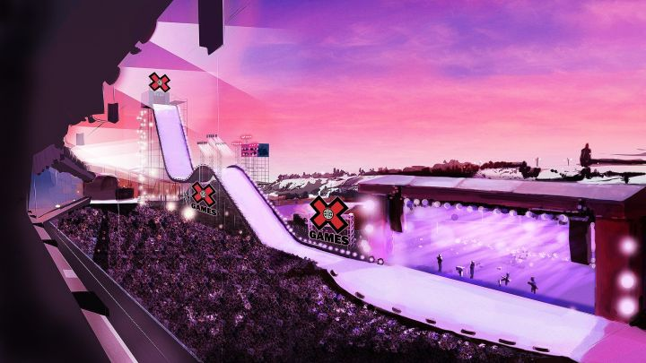 A rendering of the X-Games at Stampede Park in Calgary, Alta.