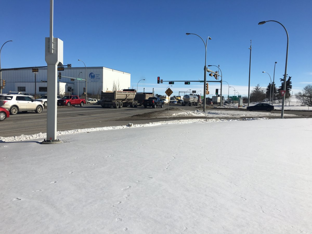 This intersection, Yellowhead Trail and 66 Street, will be closed if plans for the conversion to a freeway move ahead.