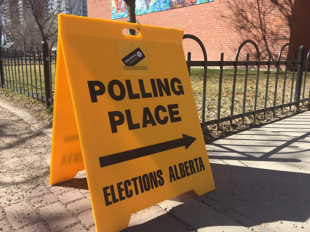 Alberta election day poll station April 16, 2019.