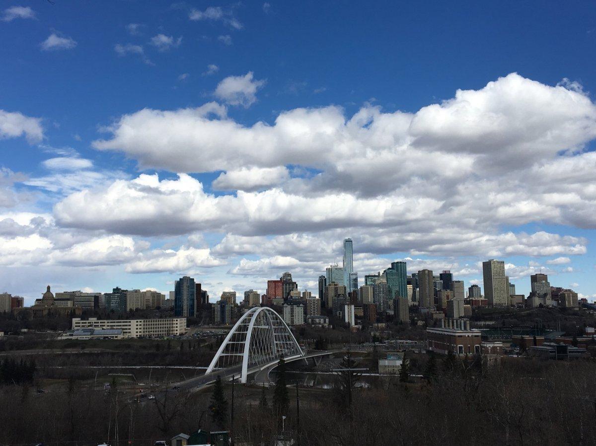 Edmonton skyline on Wednesday, April 17, 2019.