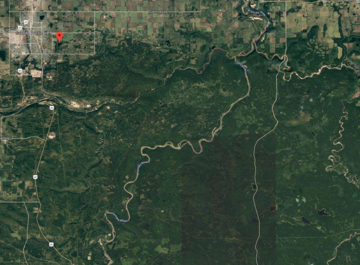 Bear Creek River is south of Grande Prairie, Alta.