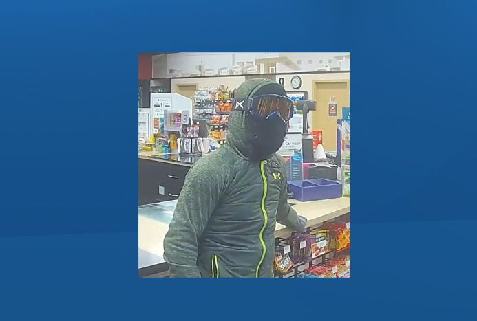 Suspect in two Lethbridge armed robberies.