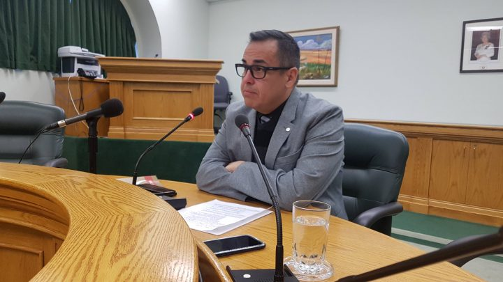 Saskatchewan's Advocate for Children and youth Corey O'Soup delivers his annual report on April 30, 2019.
