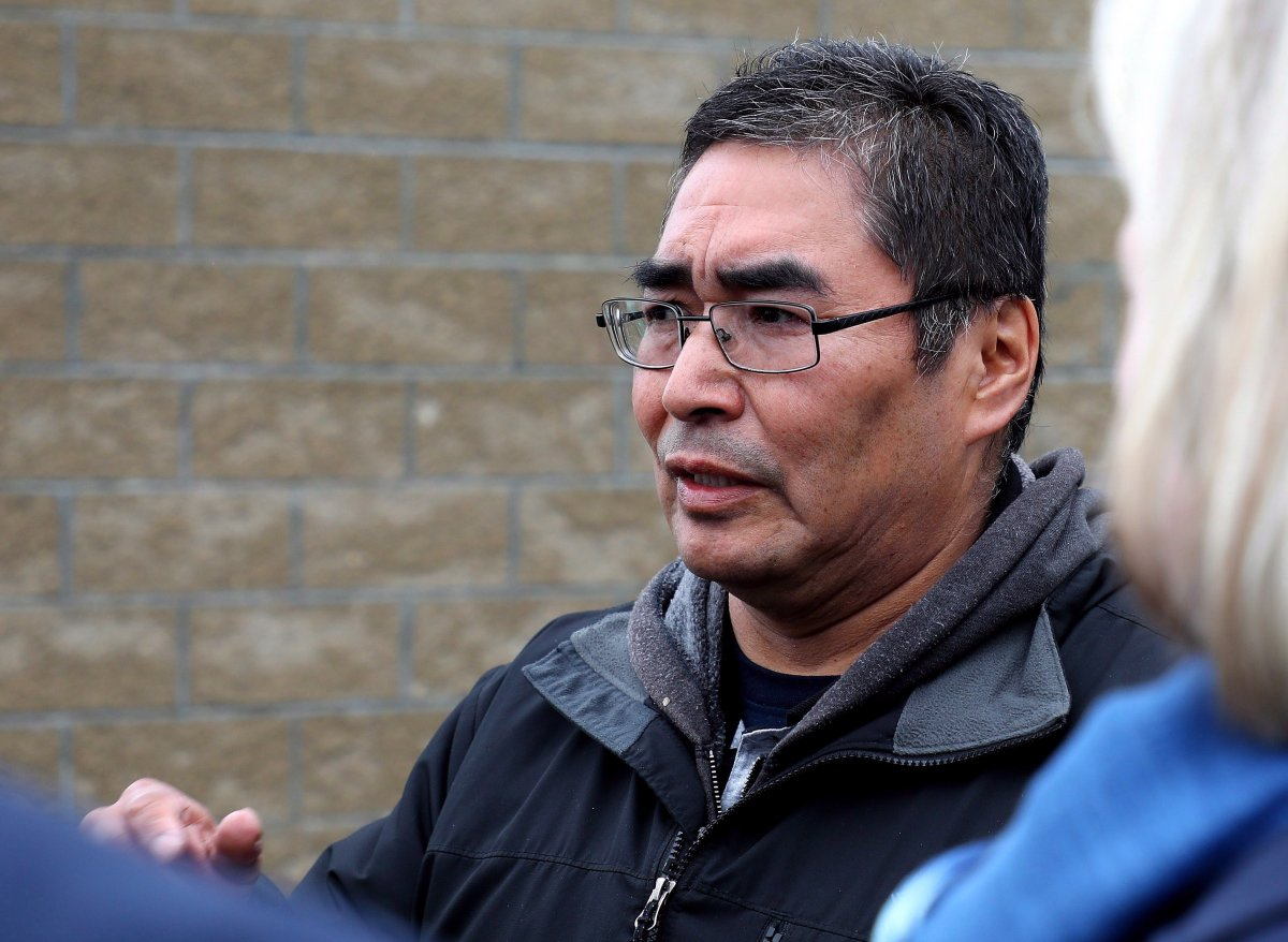 Rudy Turtle, chief of the Grassy Narrows First Nation in northwestern Ontario, is seen here on the reserve on Friday, May 18, 2018.