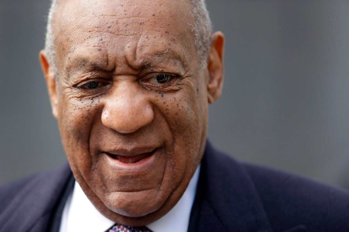 FILE - This April 18, 2018 photo shows Bill Cosby arriving for his sexual assault trial at the Montgomery County Courthouse in Norristown.