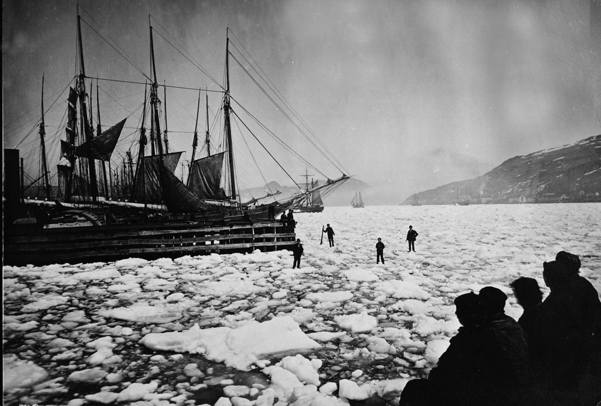 Boats in the ice in St. John's harbour are shown in a 1926 file photo.