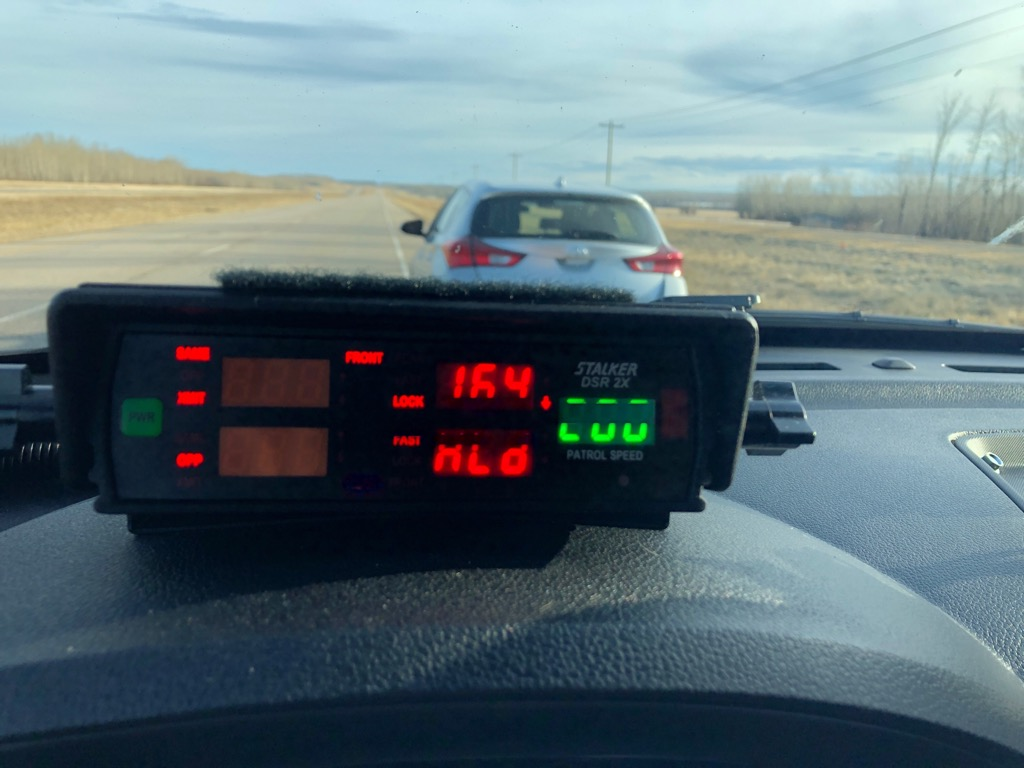 Police in northern Alberta say they pulled over a number of excessive speeders on April 10 and April 11.