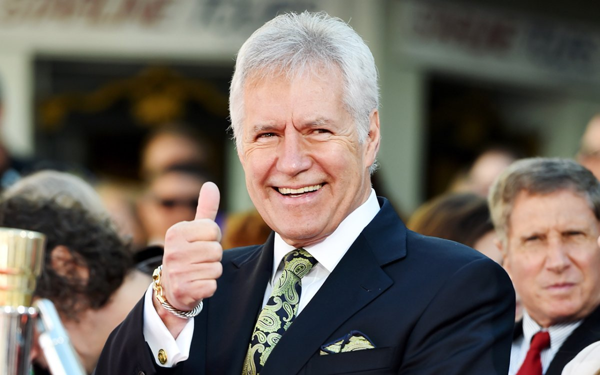 TV personality Alex Trebek attends the Christopher Plummer Hand and Footprint Ceremony during the 2015 TCM Classic Film Festival on March 27, 2015 in Los Angeles, California.