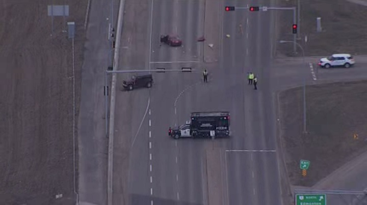 A 24-year old man is dead after an early morning crash in the area of Highway 2 and 41 Avenue SW.