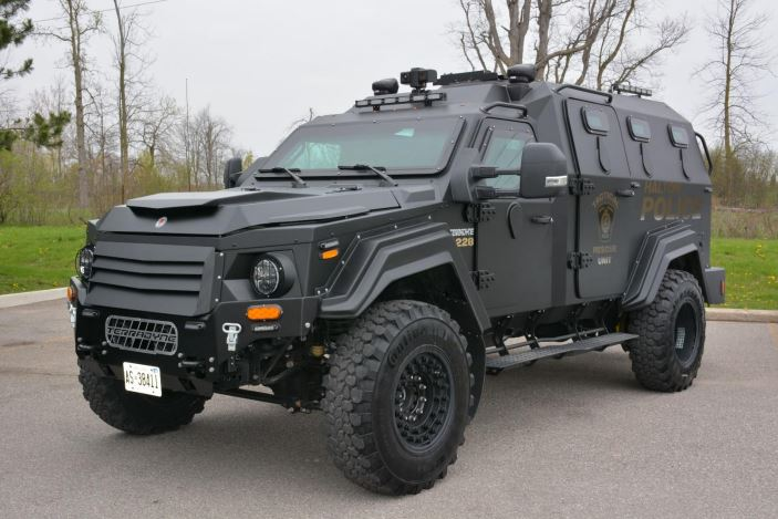 Halifax Regional Police used this armoured vehicle, currently used by the Halton Regional Police Service, as an example of what they are looking for.