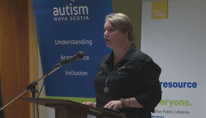 Jenny Tyler with Autism Nova Scotia announced new communication tool kit.