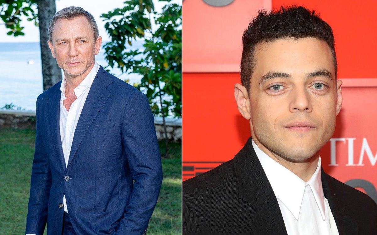 (L-R): Daniel Craig and Rami Malek.