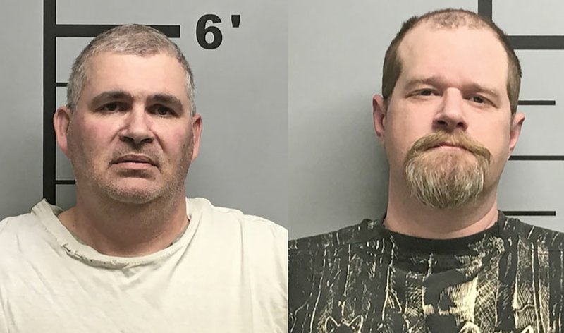 Citing a police affidavit, the Northwest Arkansas Democrat-Gazette reported Charles Eugene Ferris, 50, and Christopher Hicks, 36, were arrested Monday in connection with aggravated assault.