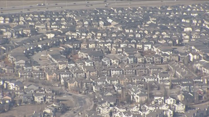 Calgary houses pictured on April 2, 2019. The city has launched 2019's online census.