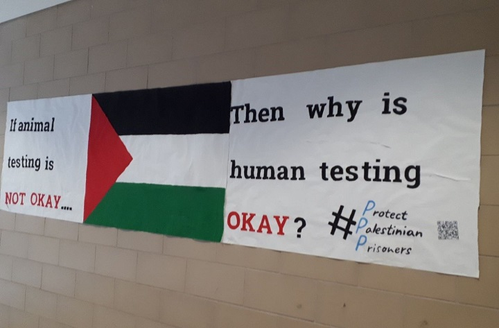 The CIJA posted a picture of the sign on its Facebook page Friday afternoon.