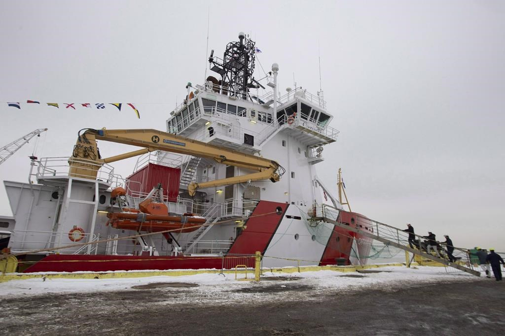 The CCGS Captain Molly Kool is presented to the media after undergoing refit and conversion work at the Davie shipyard, Friday, December 14, 2018 in Levis Que. Reduced search-and-rescue coverage, ferry-service disruptions, cancelled resupply runs to Arctic and coastal communities and nearly $2 million in lost navigational buoys.
