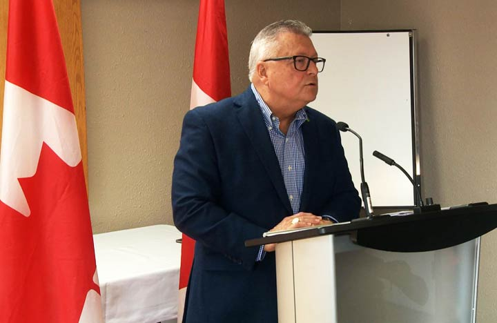Canada's Minister of Public Safety and Emergency Preparedness Ralph Goodale announced up to $54 million for community safety initiatives in northern Saskatchewan.