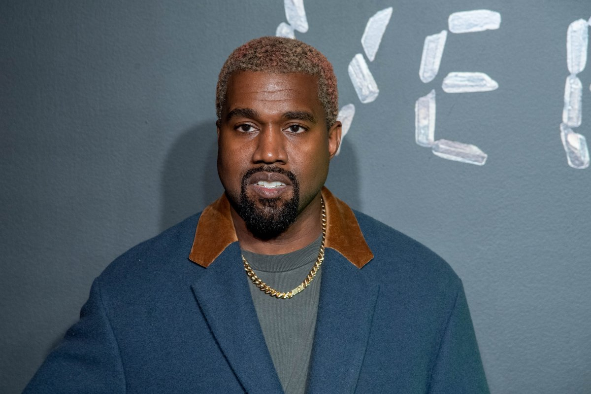 Kanye West attends the the Versace fall 2019 fashion show at the American Stock Exchange Building in lower Manhattan on Dec. 2, 2018 in New York City.