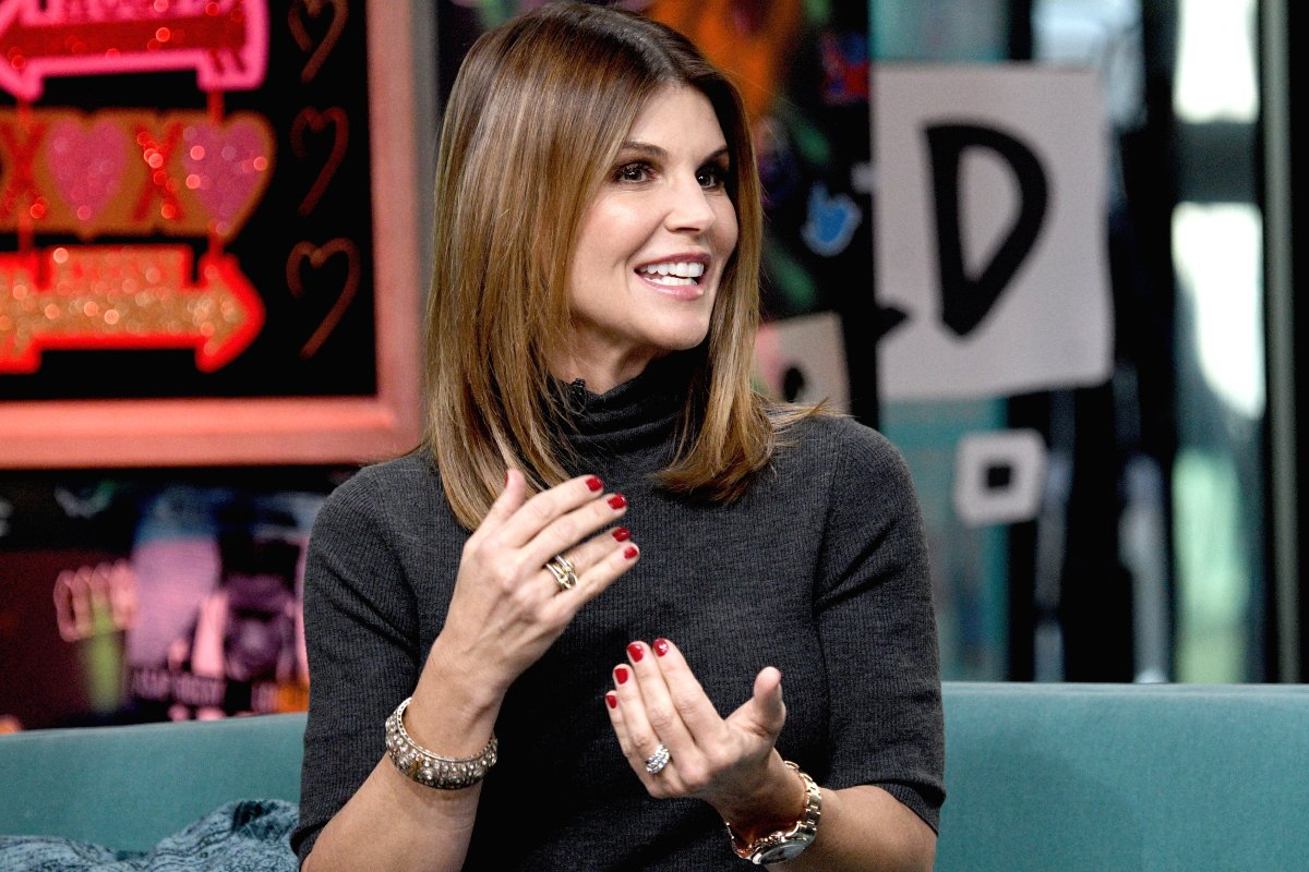Actress Lori Loughlin visits the Build Brunch to discuss the Hallmark Channel TV series 'When Calls the Heart' at Build Studio on Feb. 14, 2019 in New York City.