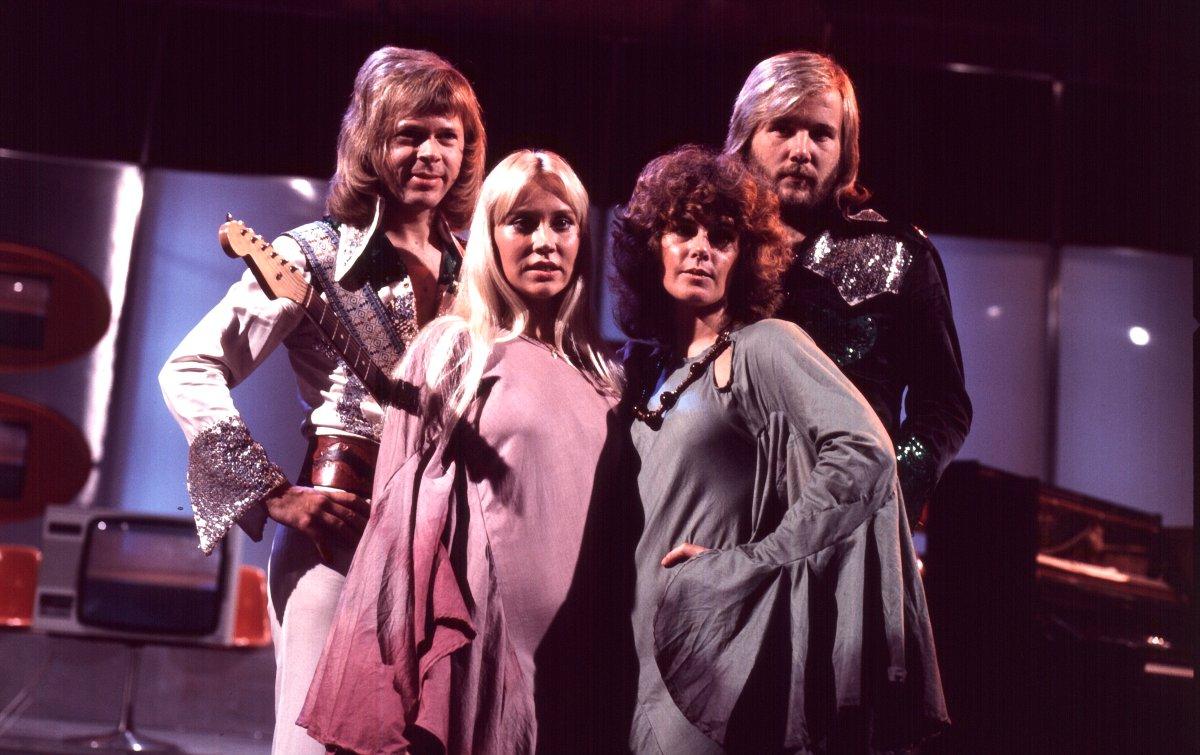 (L-R) Björn Ulvaeus, Agnetha Fältskog, Anni-Frid (Frida) Lyngstad and Benny Andersson of ABBA.