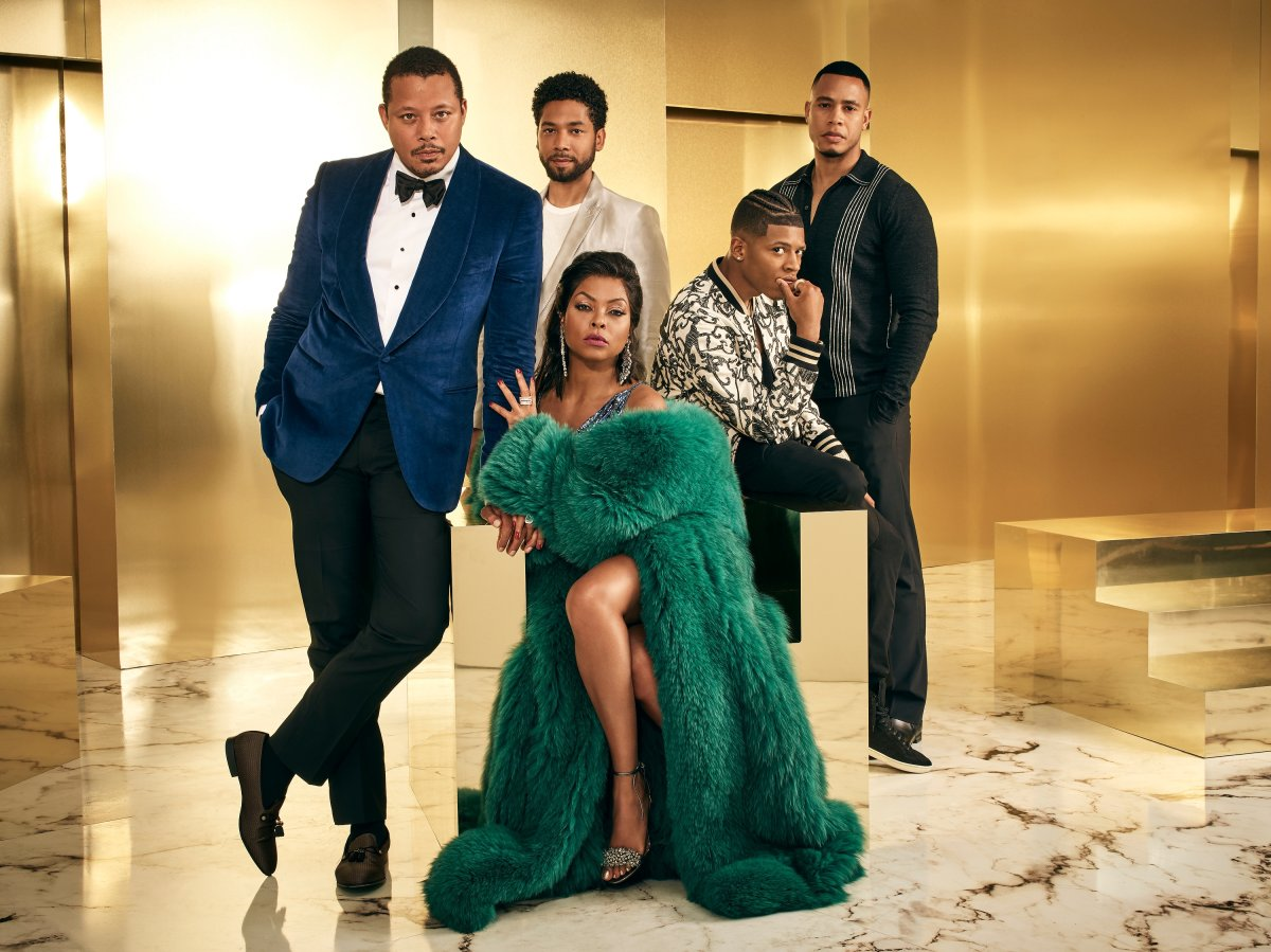 Pictured L-R: Terrence Howard, Jussie Smollett, Bryshere Gray, Trai Byers and Taraji P. Henson on Season 4 of 'Empire.'.
