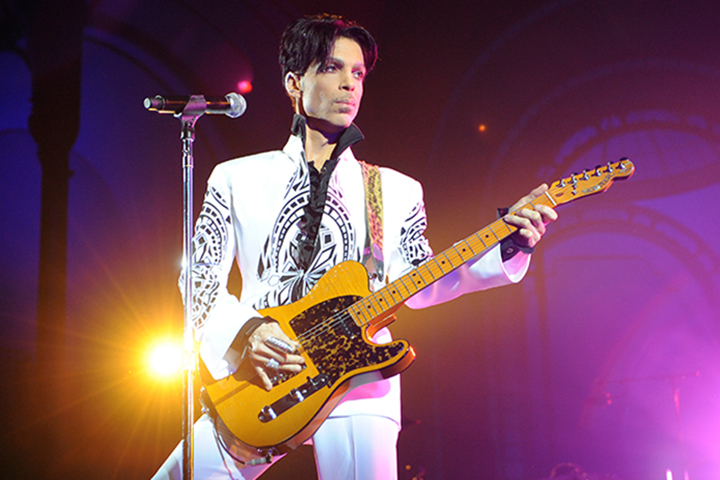 Prince performs on Oct. 11, 2009 at the Grand Palais in Paris, France.