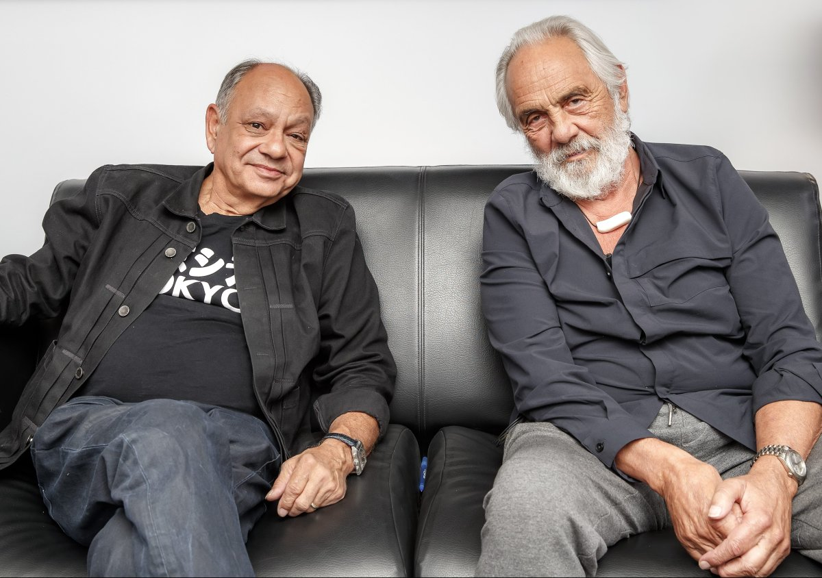 Cheech Marin and Tommy Chong in Los Angeles, California on April 17, 2018.