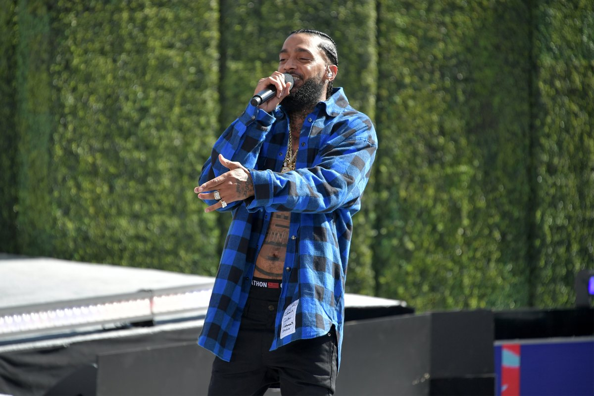 Nipsey Hussle performs onstage at Live! Red! Ready! Pre-Show, sponsored by Nissan, at the 2018 BET Awards at Microsoft Theater on June 24, 2018, in Los Angeles, California.