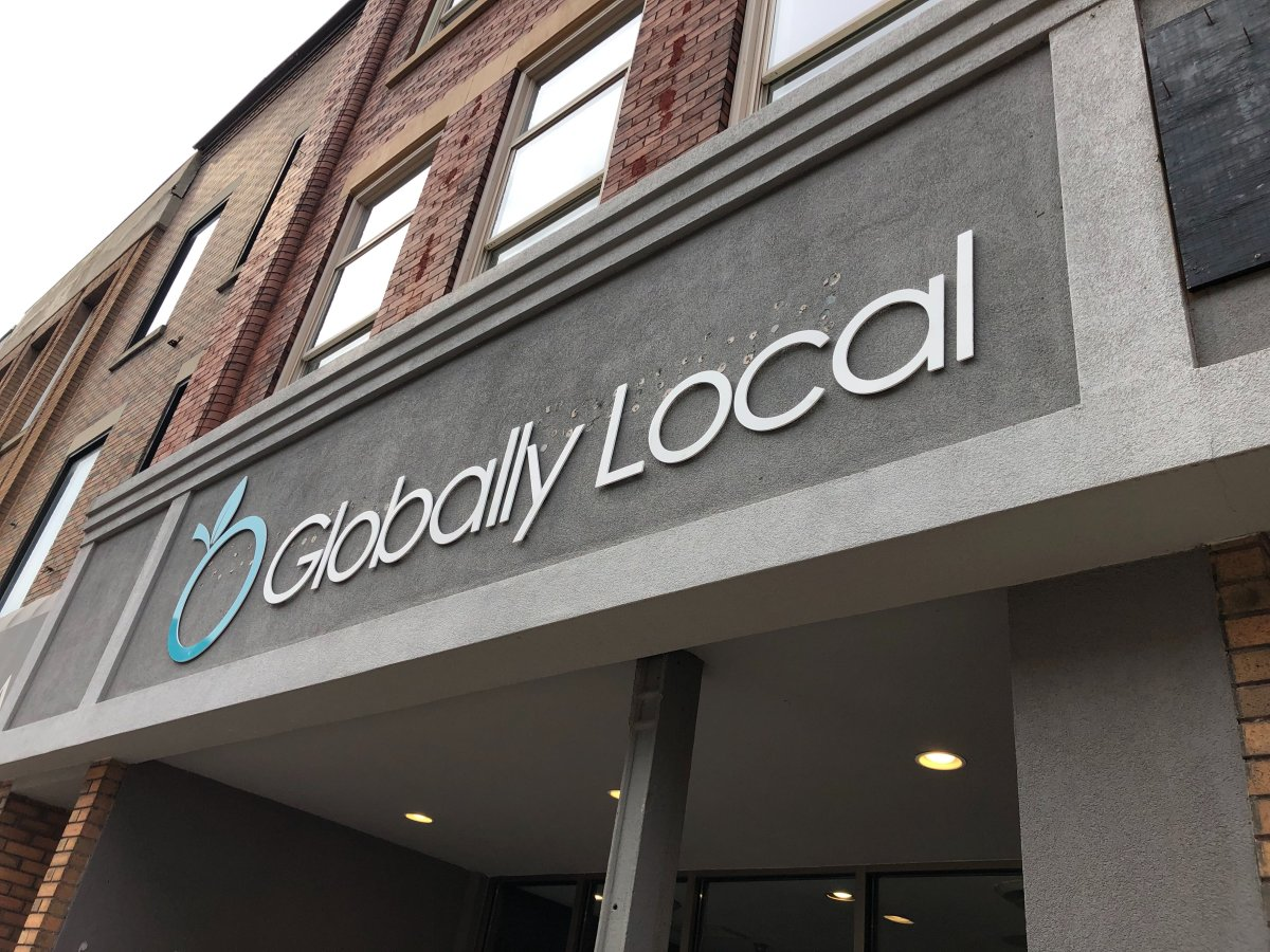 Globally Local's downtown location at 252 Dundas St.
