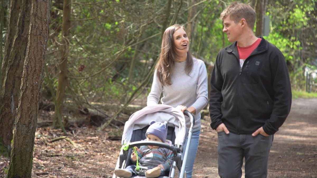 Harriet Ronaghan had to re-learn how to swallow, talk and walk after a devastating accident in her teens. Now she's living a life of joy with her husband and young son.